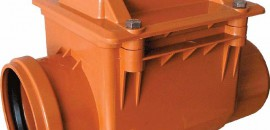 Обратный клапан для наружной канализации