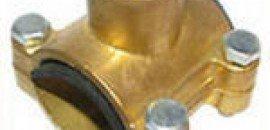 Седловая врезка в трубу водопровода латунь
