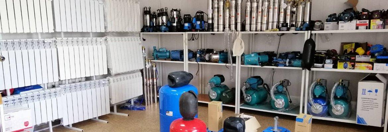 Радиаторы отопления, насосы, расширительные баки